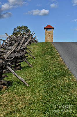 Photograph - Antietam Battlefield Observation Tower by Lois Bryan