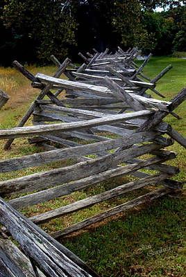 Photograph - Antietam Fenceline by Judi Quelland