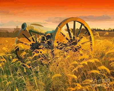 Antietam Maryland Cannon Art Print