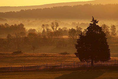 Antietam National Battlefield At Sunrise Print by Brian M Lumley
