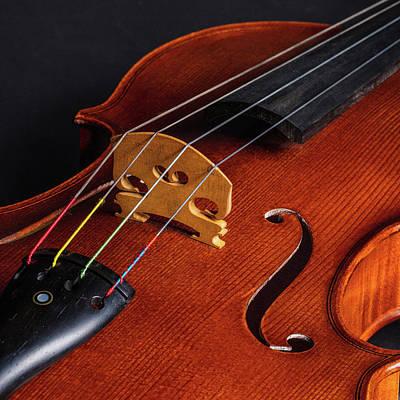 Photograph - Antique Violin 1732.67 by M K Miller