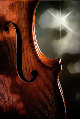 Photograph - Antique Violin 1732.70 by M K Miller