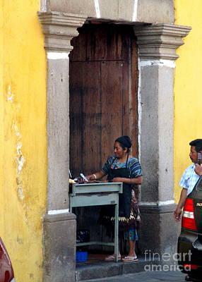 Photograph - Antigua Door 11 by Randall Weidner