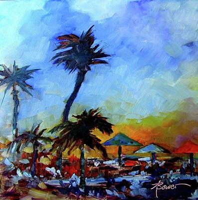 Painting - Antigua Evening  by Adele Bower