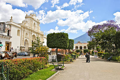 Photograph - Antigua Square by Theresa Muench