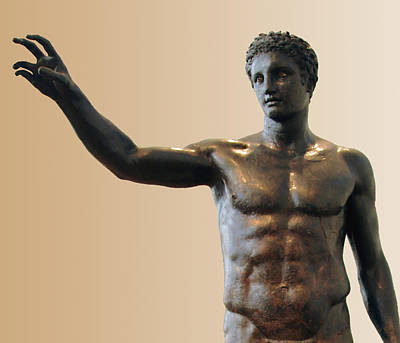Photograph - Antikythera Statue by Ellen Henneke