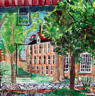 Antioch Yellow Springs Ohio Mural Art Print by Mindy Newman