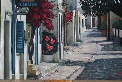 Painting - Antiparos Avenue by Joe Jaqua