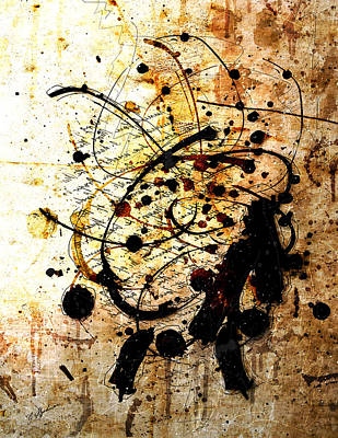 Drips Digital Art - Antiqua by Gary Bodnar