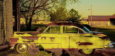 Photograph - Antique 1953 Cadillac In Less Than Perfect Condition by Douglas Barnett