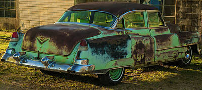Photograph - Antique 1953 Cadillac In Shadow by Douglas Barnett