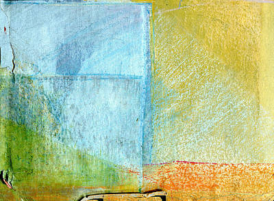 Provence Drawing - Antique Abstract Landscape  by Elizabetha Fox