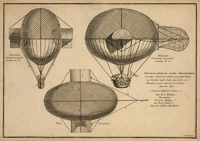 Drawing - Antique Aeronautics by Vintage Pix