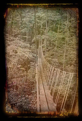 Photograph - Antique Amber Sky Bridge 2 by Aimee L Maher ALM GALLERY