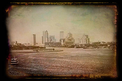 Photograph - Antique Amber Tampa Skyline by Aimee L Maher ALM GALLERY
