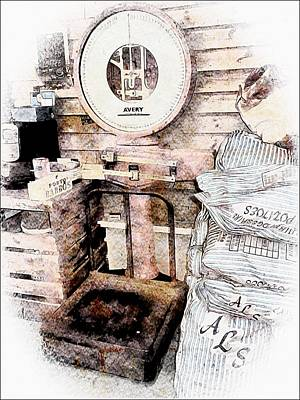 Photograph - Antique Avery Weighing Scale by Dorothy Berry-Lound