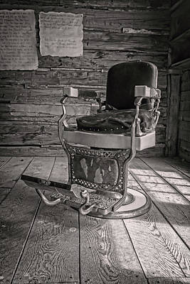 Photograph - Antique Barber Chair by Scott Read