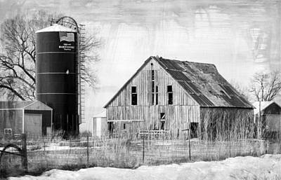 Photograph - Antique Barn And Silo by Kathy M Krause