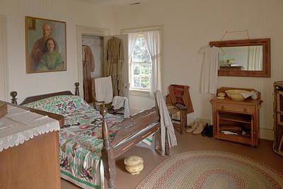 Antique Bedroom Of Yesteryear In Display Yaquina Lighthouse Museum. Original by Gino Rigucci