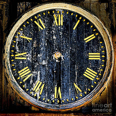 Photograph - Antique Bell Tower Clock by Olivier Le Queinec