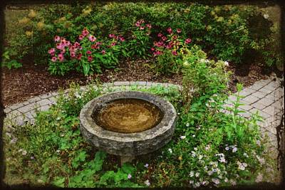 Photograph - Antique Bird Bath by Randy J Heath