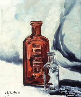 Antique Painting - Antique Bottles by Laara WilliamSen
