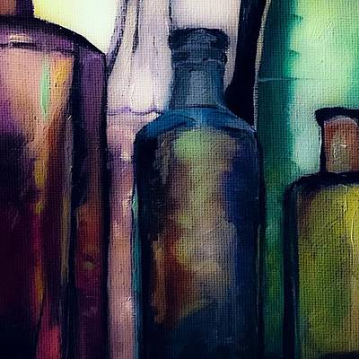 Painting - Antique Bottles  by Michele Carter