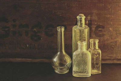 Photograph - Antique Bottles by Sue Collura