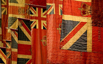 Photograph - Antique British Flags by Andrew Fare