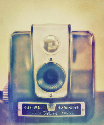 Photograph - Antique Brownie Camera Vintage Style by Ann Powell