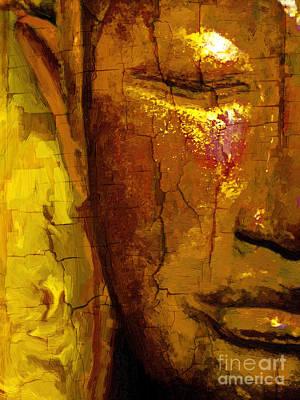 Antique Buddha Art Print by Khalil Houri