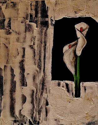 Antique Calla Lily Art Print by Marsha Heiken