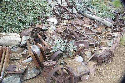 Salvage Photograph - Antique Car Parts by Anthony Jones