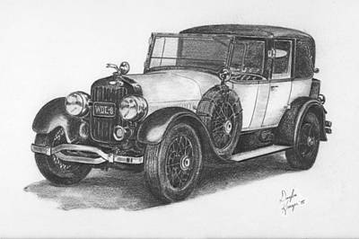 Drawing - Antique Car -pencil Study by Doug Kreuger