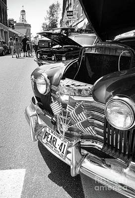 Photograph - Antique Car Show, Bath, Maine  -56459-bw by John Bald