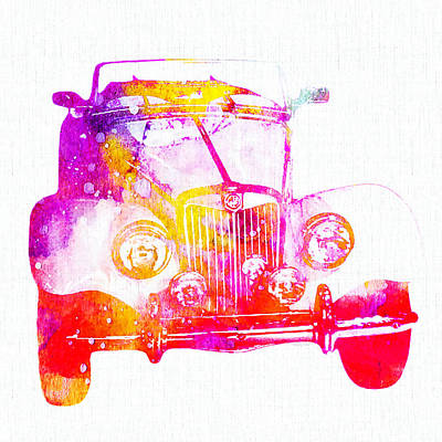 Antique Automobiles Mixed Media - Antique Car by Stacey Chiew