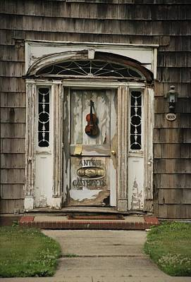 Photograph - Antique Carpenter Door by Karen Silvestri