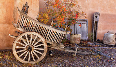 Photograph - Antique Carreta In Northern New Mexico by Kathleen Bishop
