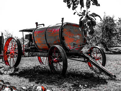 Photograph - Antique Carriage With Sprayer Pump by Cristina Stefan