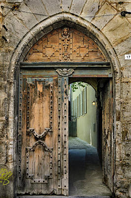 Photograph - Antique Carved Door In Cahors by RicardMN Photography