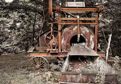 Photograph - Antique Cement Mixer by JAMART Photography