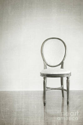Photograph - Antique Chair With Grunge Style Background by Sandra Cunningham