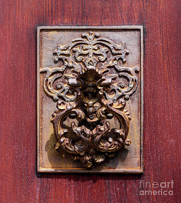 Photograph - Antique Charleston Door Knocker by Dale Powell
