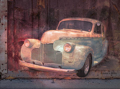 Digital Art - Antique Chevrolet by Bonnie Willis