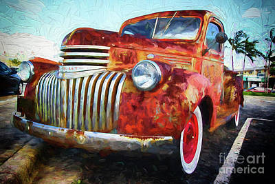 Digital Art - Antique Chevrolet Truck by Les Palenik