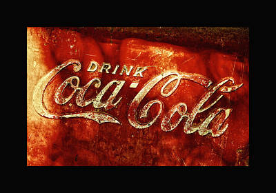 Weathered Coca Cola Sign Photograph - Antique Coca-cola Cooler II by Stephen Anderson