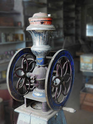 Photograph - Antique Coffee Grinder by Alan Socolik