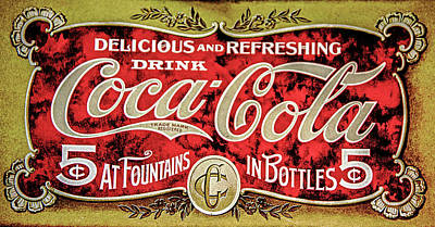 Photograph - Antique Coke by David Millenheft