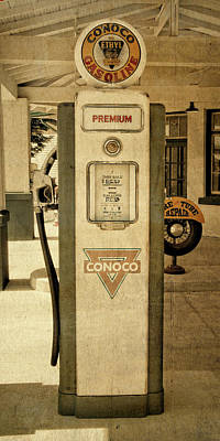 Photograph - Antique Conoco Gas Pump Premium by David King
