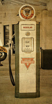 Photograph - Antique Conoco Gas Pump Regular by David King